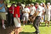Golf Ball Lands In Spectator�s Pocket