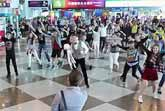Surprise Flash Mob Proposal at Kaohsiung Airport